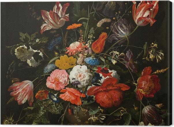 Obraz na płótnie Abraham Mignon - Flowers in a Metal Vase - Reprodukcje