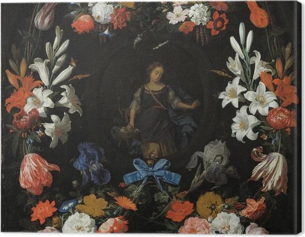Obraz na płótnie Abraham Mignon - Garland of Flowers - Reprodukcje