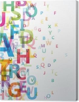 Obraz na płótnie Abstract Alphabet Kolor na białym tle # Vector