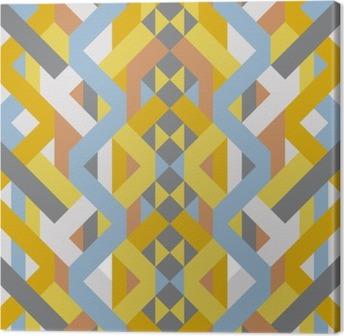 Obraz na Płótnie Abstrakcyjne geometryczne retro pastelowe Art deco wzór