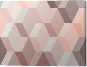 Obraz na płótnie Abstrakcyjne geometryczne szwu w różowym i brązowym, wektor