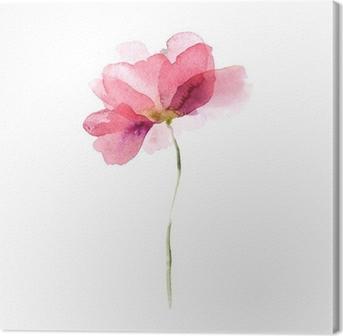 Obraz na płótnie Akwarela kwiat