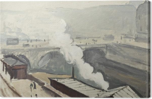 Obraz na płótnie Albert Marquet - Dym na nabrzeżu Saint-Michel - Reproductions