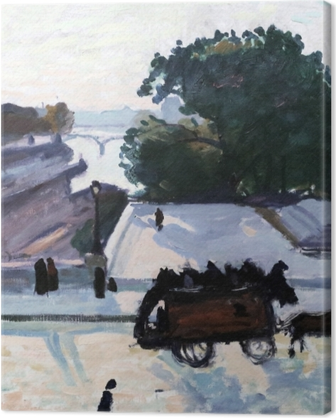 Obraz na płótnie Albert Marquet - Paryż. Most Pont Neuf latem. - Reproductions