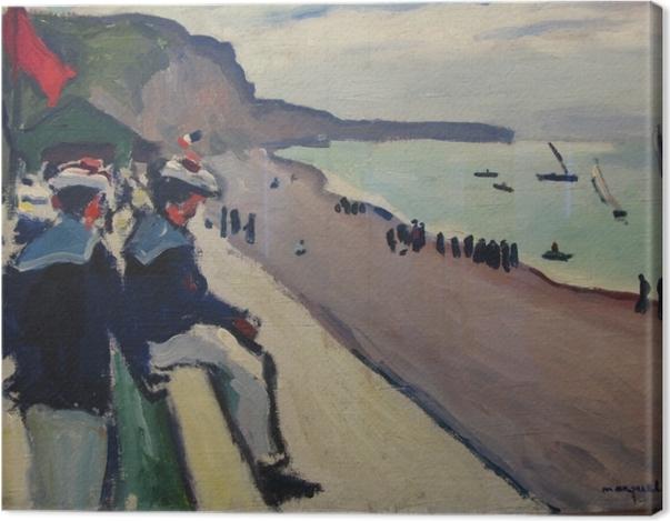 Obraz na płótnie Albert Marquet - Plaża w Fécamp - Reproductions