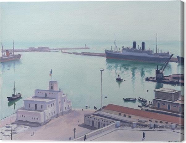 Obraz na płótnie Albert Marquet - Port w Algierze, Gmach Admiralicji - Reproductions