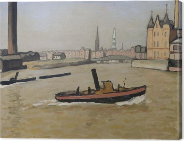 Obraz na płótnie Albert Marquet - Port w Hamburgu - Reproductions