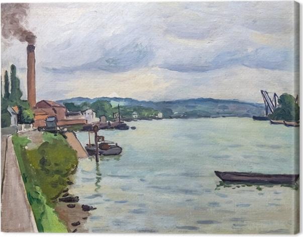 Obraz na płótnie Albert Marquet - Sekwana w okolicach Rouen - Reproductions