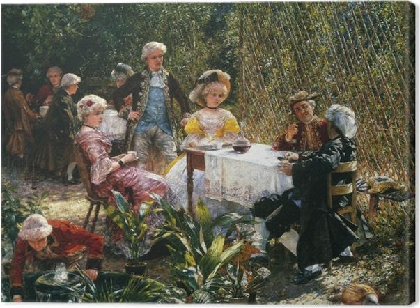 Obraz na płótnie Aleksander Gierymski - W altanie - Reproductions