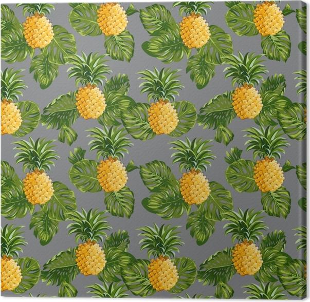 Obraz na płótnie Ananasy i tropikalne liście - Pineapple Fever