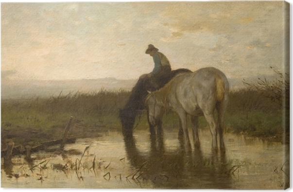 Obraz na płótnie Anton Mauve - Konie u wodopoju - Reproductions