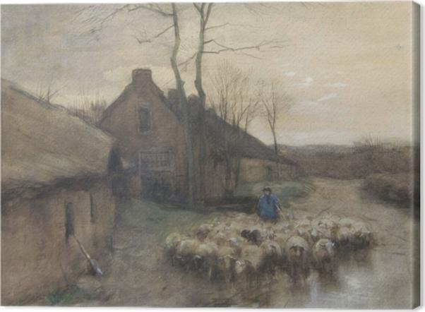 Obraz na płótnie Anton Mauve - Pasterz z owcami w 't Gooi - Reproductions
