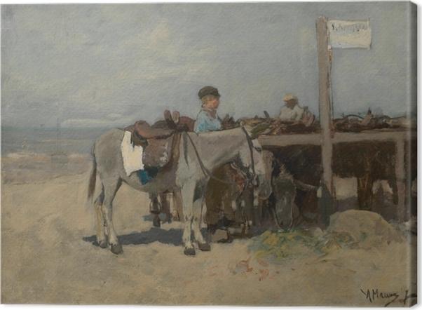Obraz na płótnie Anton Mauve - Stanowisko dla osłów na plaży w Scheveningen - Reproductions