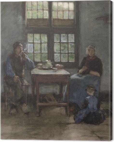 Obraz na płótnie Anton Mauve - Wnętrze domu w Laren - Reproductions