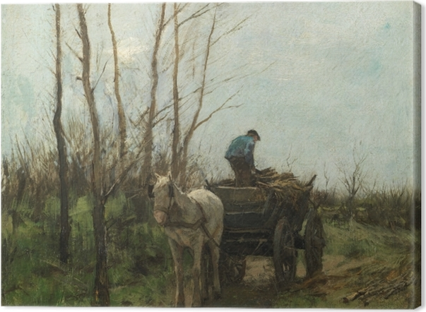 Obraz na płótnie Anton Mauve - Zbieranie drewna - Reproductions
