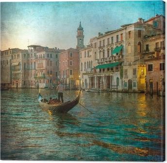 Obraz na płótnie Archiwalne zdjęcie z Grand Canal, Venice