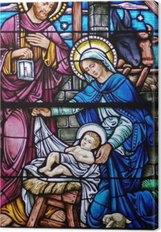 Obraz na płótnie Barwione szkło Narodzenia wdowa