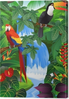 Obraz na płótnie Beauiful tropikalnych tle