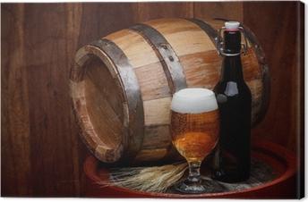 Obraz na płótnie Beczka piwa