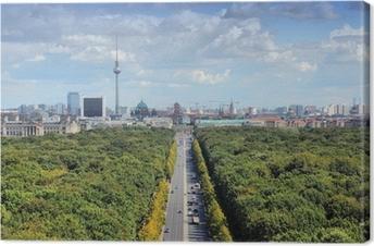 Obraz na płótnie Berlin skyline z parku Tiergarten