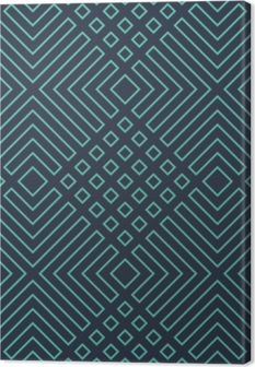 Obraz na płótnie Bez szwu neon niebieski przekątna art deco geometryczny wzór wektor zarys