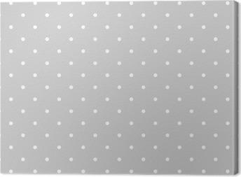 Obraz na płótnie Bezproblemowa biały i szary wzór wektora lub płytki tła z kropkami