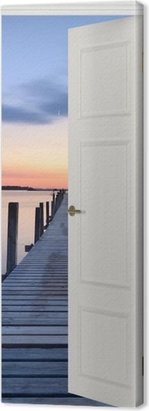 Obraz na płótnie Białe drzwi - Molo -