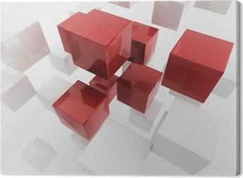 Obraz na płótnie Białe pola 3d / cube | Tapety Business Concept