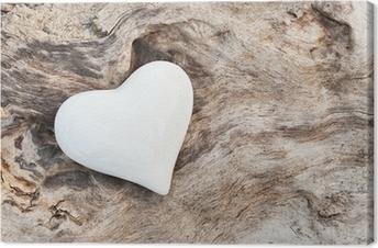Obraz na płótnie Biały Heart