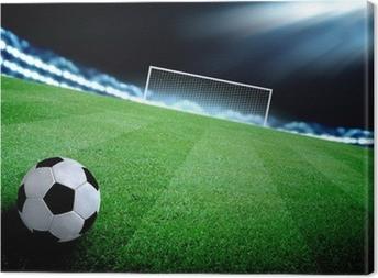 Obraz na płótnie Boisko do piłki nożnej i jasne światła