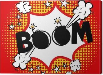Obraz na płótnie Boom comics icon