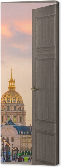Obraz na płótnie Brązowe drzwi - Most Aleksandra III. Paryż -