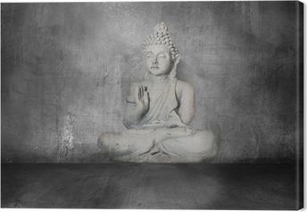 Obraz na płótnie Budda z grunge tle