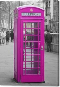 Obraz na płótnie Budka telefoniczna w Londynie