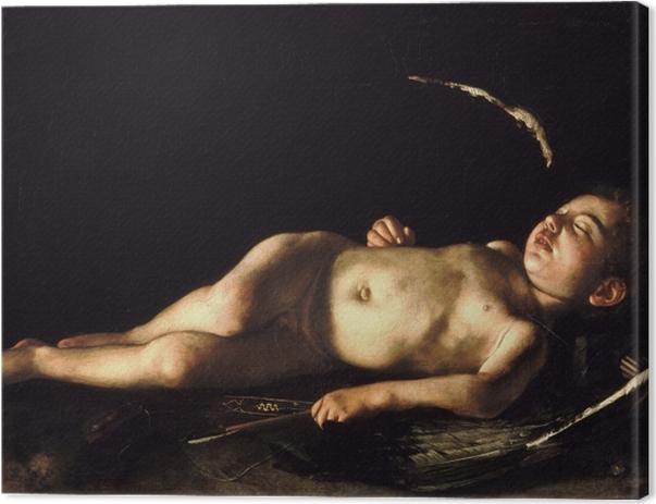 Obraz na płótnie Caravaggio - Śpiący Amor - Reproductions