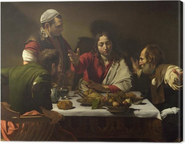 Obraz na płótnie Caravaggio - Wieczerza w Emaus - Reproductions