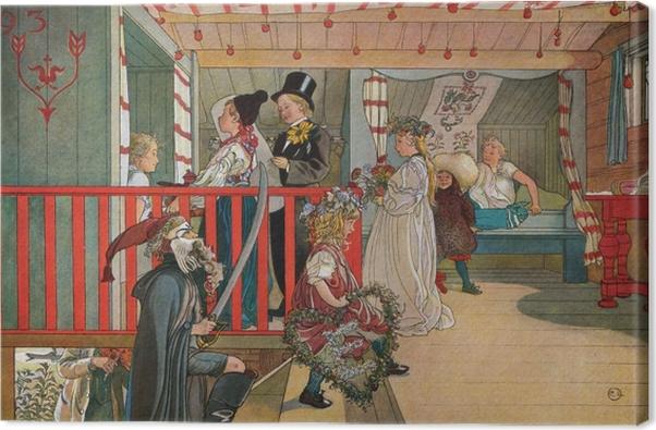 Obraz na płótnie Carl Larsson - Imieniny w szopie - Reproductions