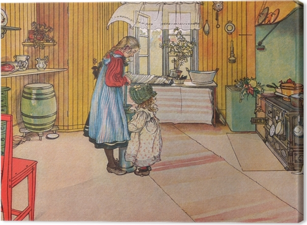 Obraz na płótnie Carl Larsson - Kuchnia - Reproductions