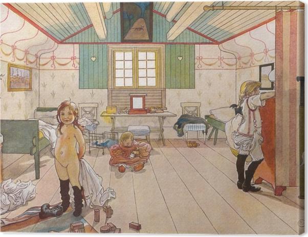 Obraz na płótnie Carl Larsson - Sypialnia mamy i dziewczynek - Reproductions