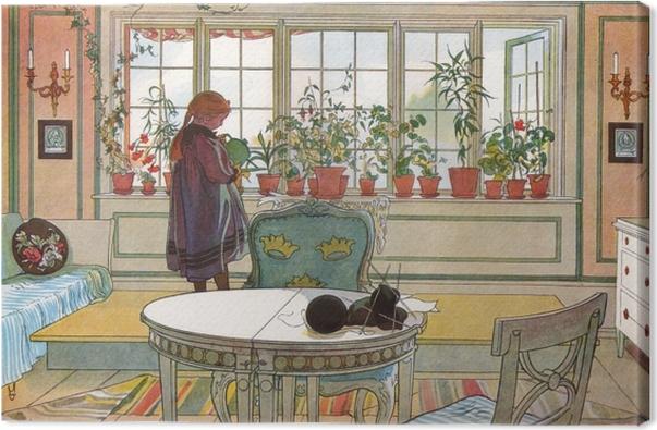 Obraz na płótnie Carl Larsson - Ukwiecone okno - Reproductions