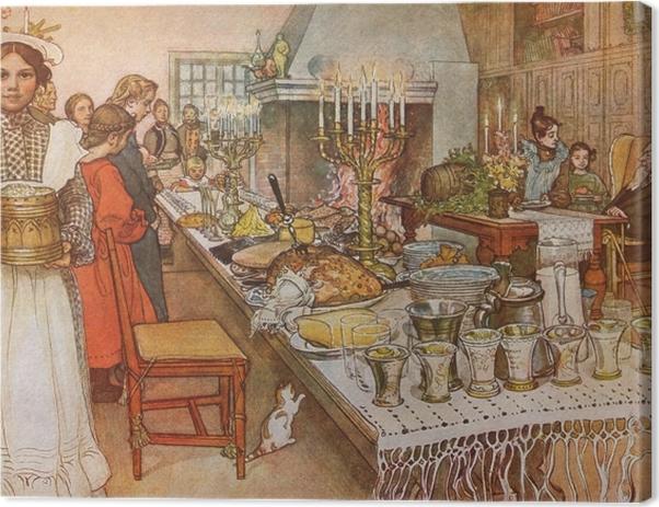 Obraz na płótnie Carl Larsson - Wieczór wigilijny - Reproductions