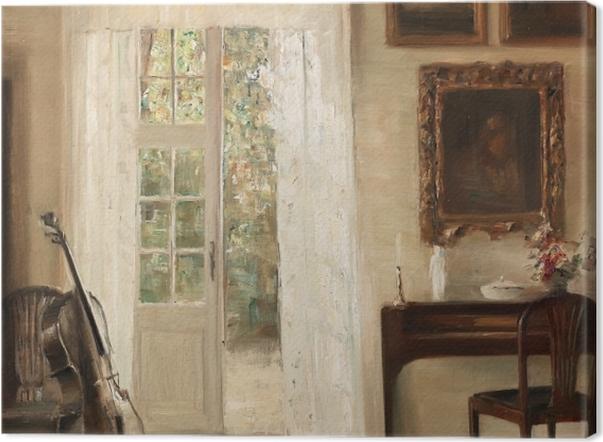 Obraz na płótnie Carl Vilhelm Holsøe - Wnętrze z wiolonczelą - Reproductions
