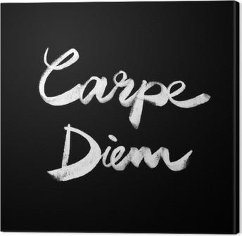 Obraz na płótnie Carpe diem. Odręczne cytat