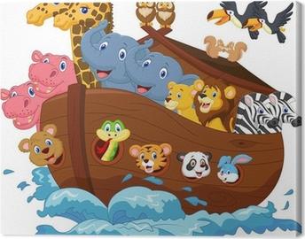 Obraz na płótnie Cartoon Noego Arka.
