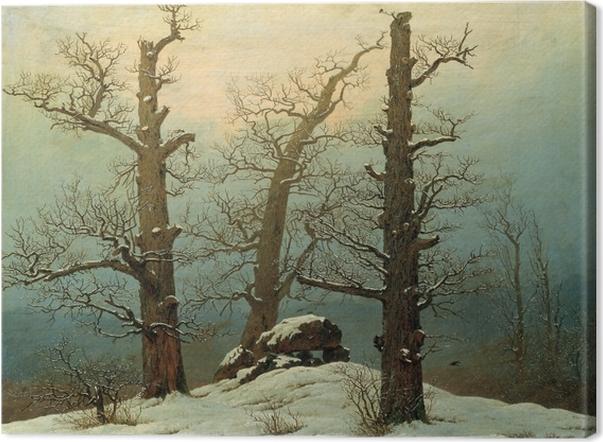 Obraz na płótnie Caspar David Friedrich - Kurhan pod śniegiem - Reproductions