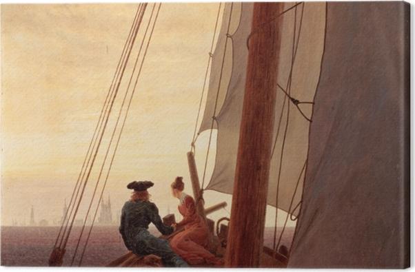 Obraz na płótnie Caspar David Friedrich - Na żaglowcu - Reproductions