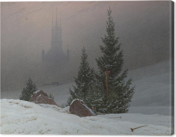 Obraz na płótnie Caspar David Friedrich - Pejzaż zimowy II - Reproductions