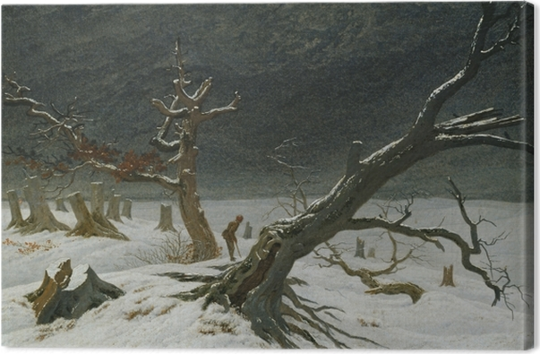 Obraz na płótnie Caspar David Friedrich - Pejzaż zimowy - Reproductions