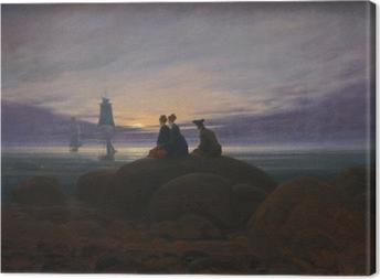 Obraz na płótnie Caspar David Friedrich - Wschód księżyca nad morzem II