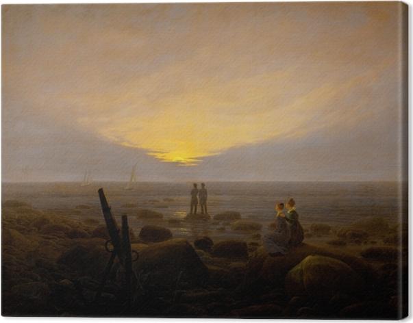 Obraz na płótnie Caspar David Friedrich - Wschód księżyca nad morzem - Reproductions